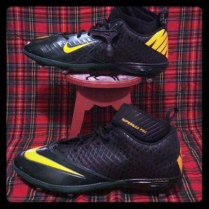 Nike Lunarlon Football Cleats Men's SZ 15 PACKERS